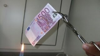 Der brennende Geldschein - Burning Money