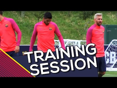 Dragon Ball Messi trains with Luis Suarez! | FC Barcelona Training Session