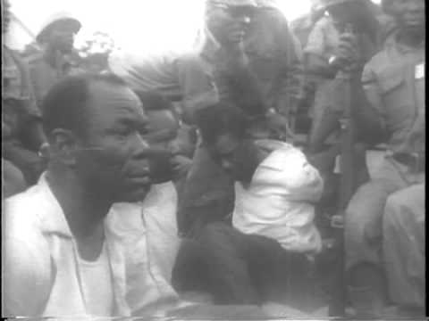 Patrice Lumumba seized and forced to eat own speech