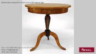 Biedermeier Antique End Table Continental Tables For Sale