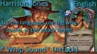 Harrison Jones card sounds in 12 languages -Hearthstone✔