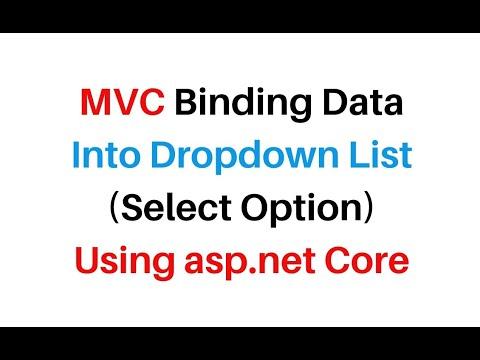 ASP.NET Core 3.0 MVC Populate Dropdown List From Database Visual Studio2019