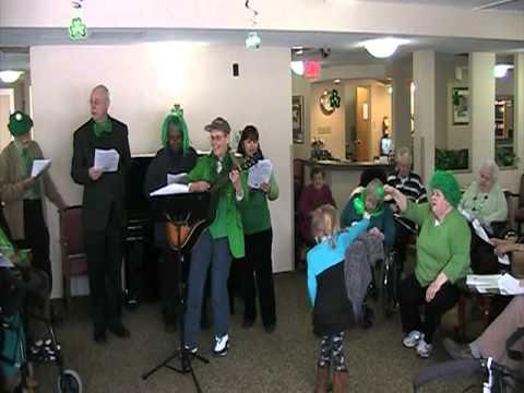 Saint Patrick's Day sing a long, Elmsmere Retirement Residence 2011 - Part 2