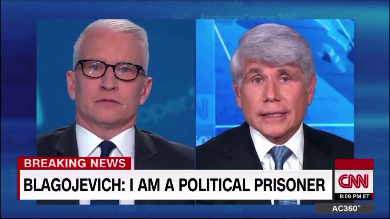 Anderson Cooper Literally Called 'Bullshit' on Rod Blagojevich