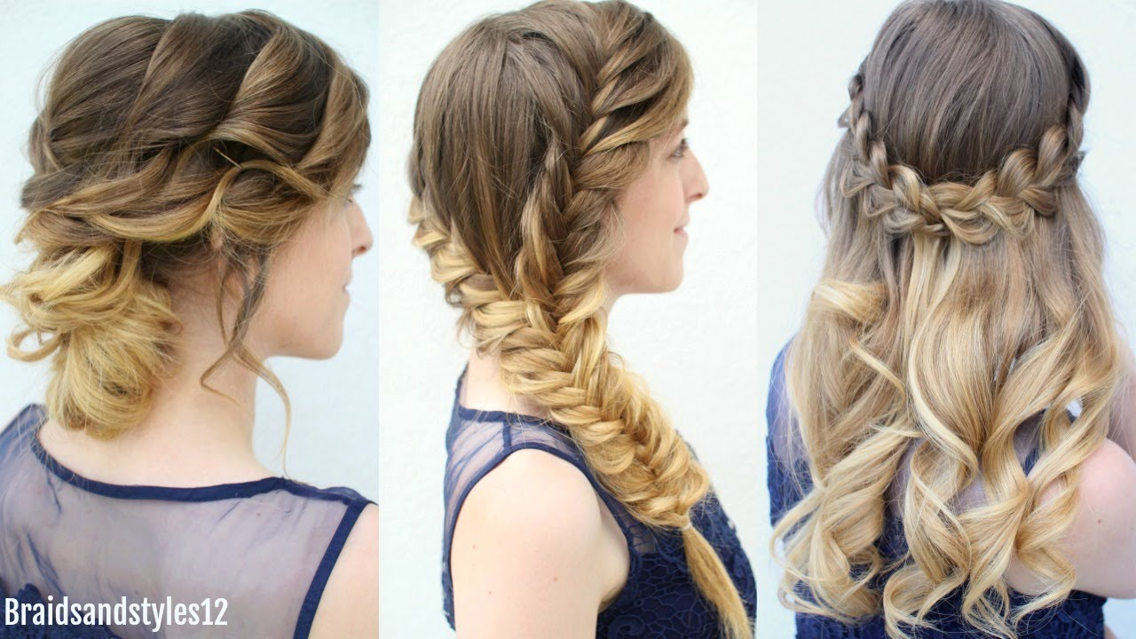 3 graduation hairstyles to wear under your cap | formal hairstyes | braidsandstyles12