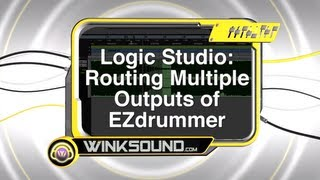 Logic Pro: Routing Muiltiple Outputs of Ezdrummer