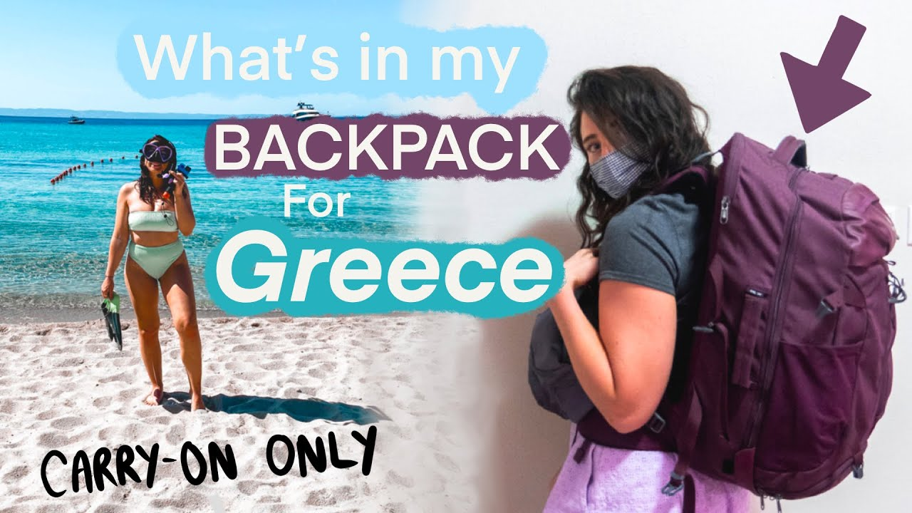 What's in My Backpack for 1 Week in Greece? easyJet Hand-Luggage Only