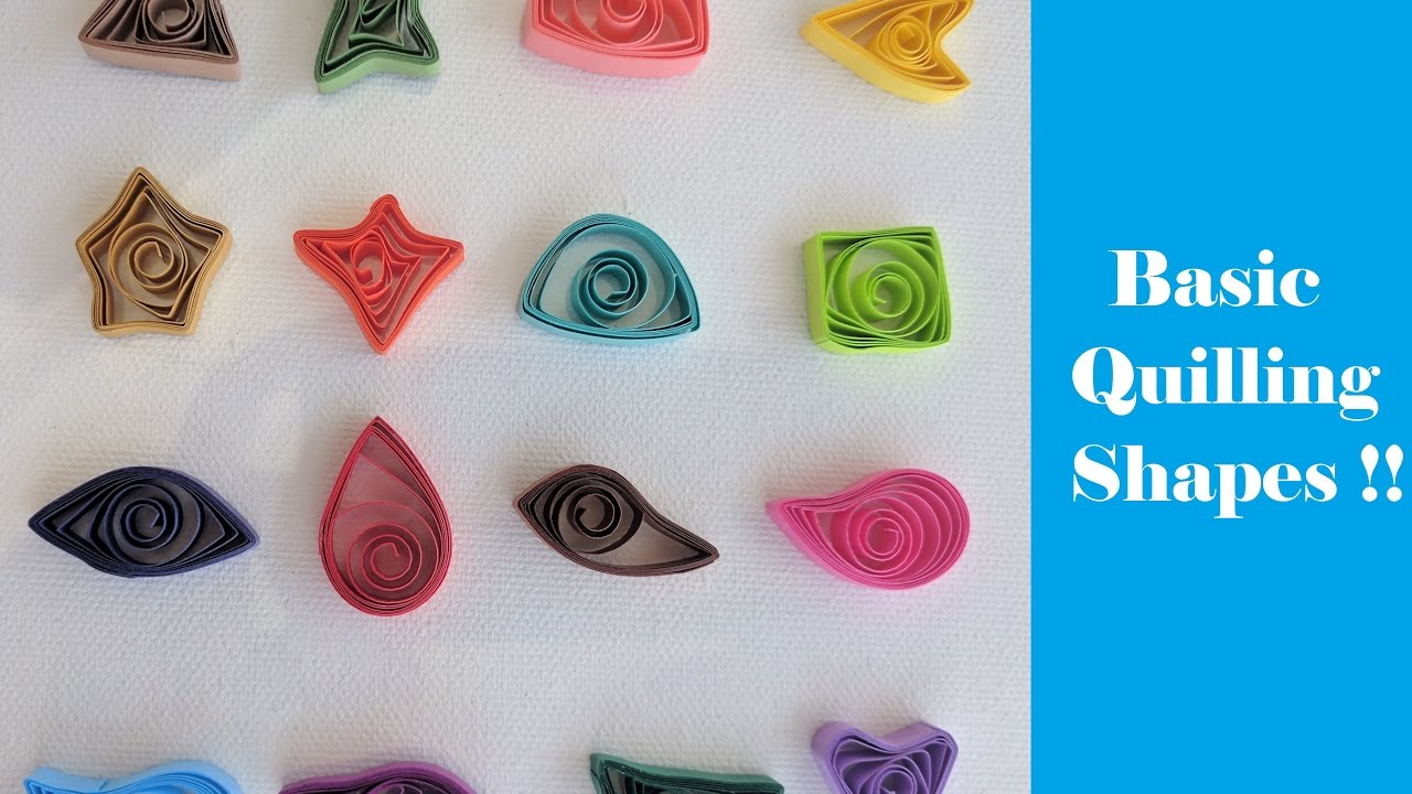 How to make Basic Quilling Shapes with Hand | Tutorial - YouTube for How To Make Quilling Shapes  143gtk
