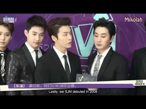 [Eng Sub] 140501 YinYueTai V-Chart BTS with Super Junior M