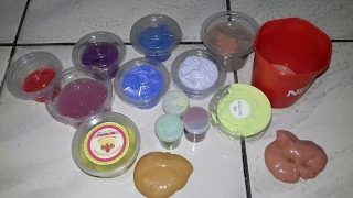 Mixing my slime collection