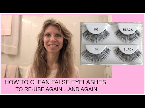 How To: THE BEST WAY To Remove & Clean False Eyelashes To Re-Use Again