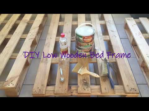 DIY Wooden Bed Frame
