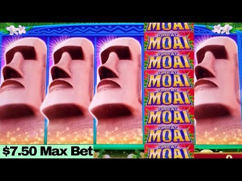 ★BIG WIN★ Great Moai Slot Machine $7.50 Max Bet BONUSES | AWESOME SESSION | Over $700 Profit
