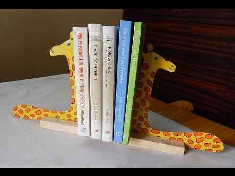 Diy easy way to make giraffe sliding book stand or book end youtube malvernweather Images