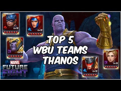 Five EASY Thanos Boss Teams! Only Fight That NEEDS Sound?? - Marvel Future Fight