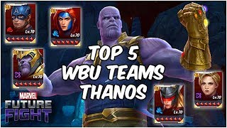 five easy thanos boss teams only fight that needs sound marvel future fight