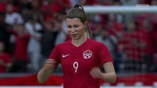 Coupe Du Monde Féminine 2019 Groupe E Canada VS Cameroun 10 Juin 2019 Sur Fifa 19