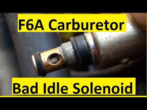 F6A Carburetor Idle Solenoid Valve Bypassing Not Possible