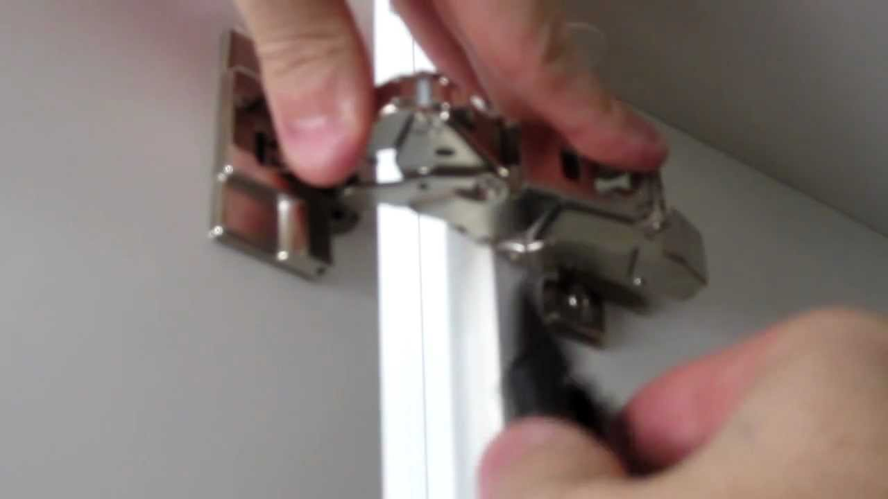 How to Install IKEA 153 Degree Integral Hinge  YouTube