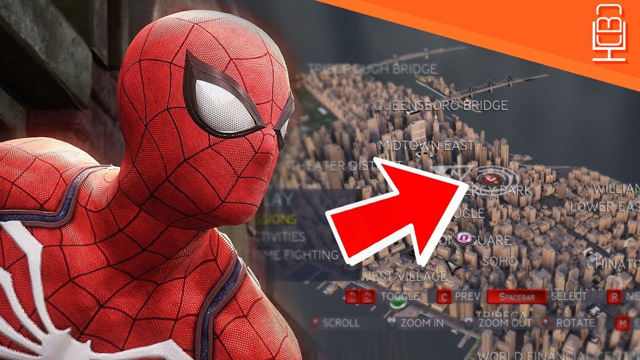 Spider-Man PS4 HOW Big is the Open World map & New York