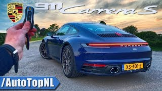 Porsche 911 992 Carrera S REVIEW POV Test Drive on AUTOBAHN & ROAD by AutoTopNL