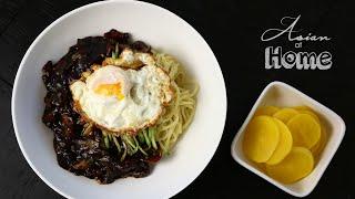 Asian at Home  Jjajangmeyon Korean Black Bean Noodles