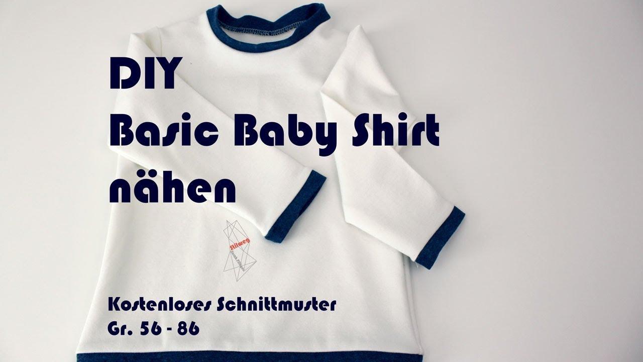 wie kauft man achten Sie auf größte Auswahl von 2019 DIY Basic Baby Shirt nähen – Kostenloses Schnittmuster