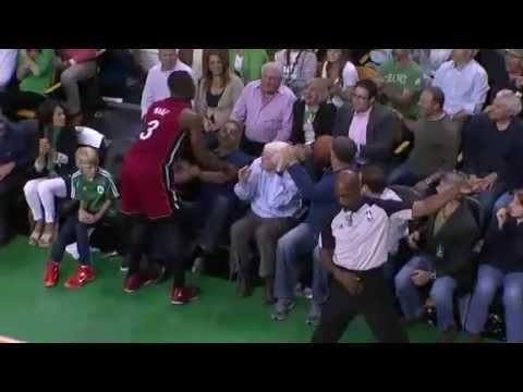 Fan Throws Ball at Dwyane Wade