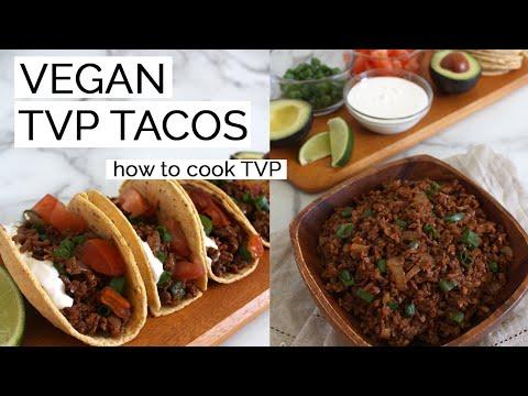 10 minute tvp tacos