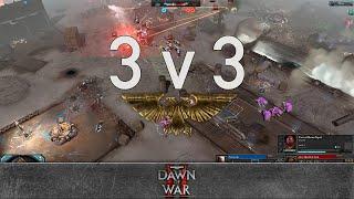 Dawn of War 2 - 3v3 | Cursecrab + sorcbrerro + Gaius Baltar [vs] Alex + Scho + Piluco