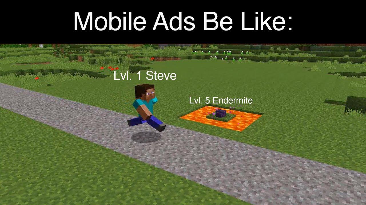 Minecraft TERRIBLE Mobile Ad Meme: Saving Endermite