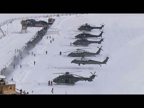 President Trump touches down in Davos