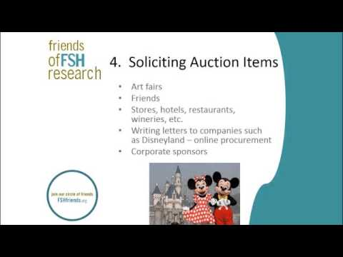 FSH Society Fundraising Webinar - Auctions with Terry Colella