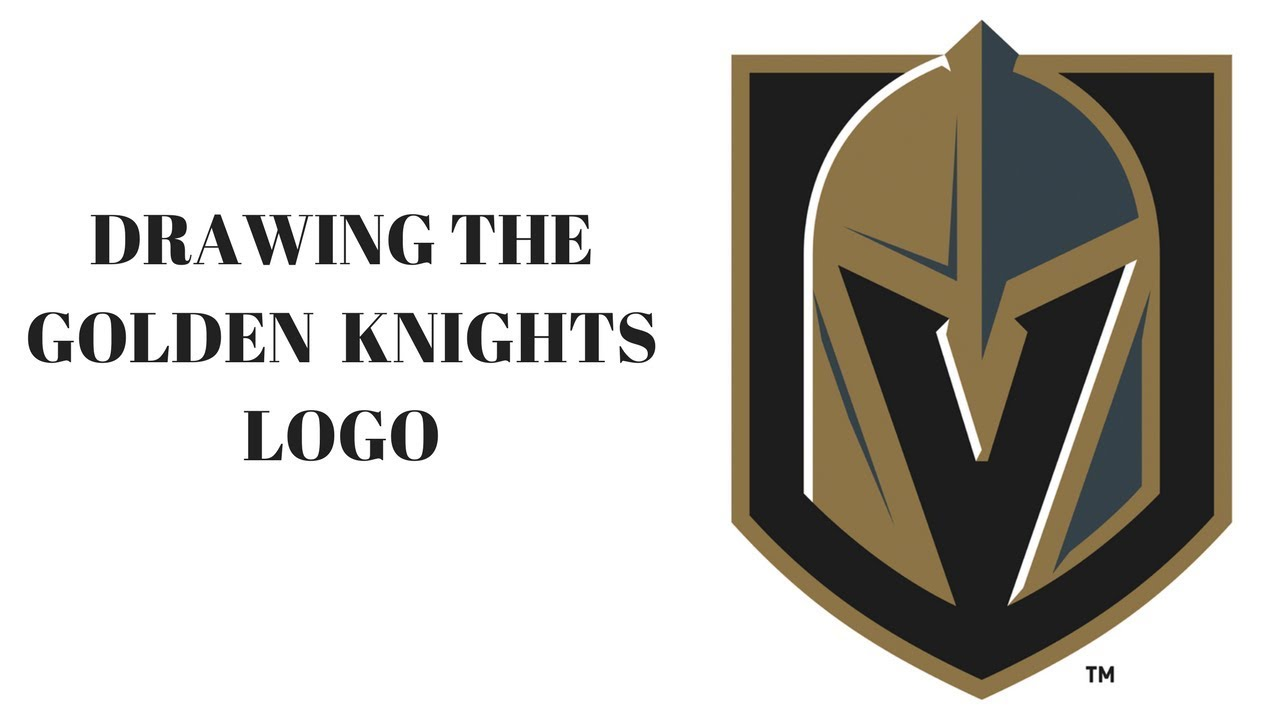 drawing the vegas golden knights logo youtube