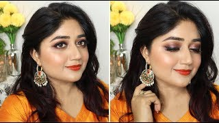 Diwali 2017 Makeup w/ Orange Lip | corallista