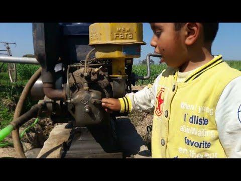 Kid repairing the field diesel engine / KID repair pitar engine /KID play with Pitar engine