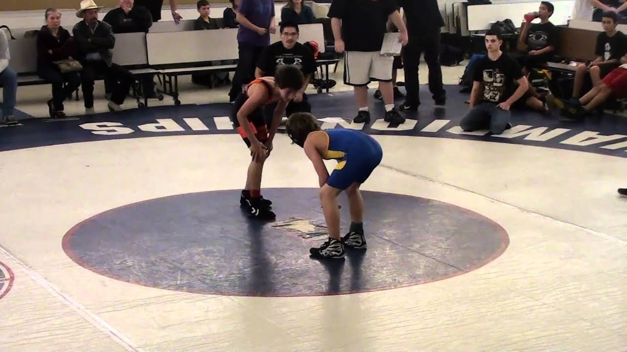 12 yr old wrestling match 2 after - YouTube