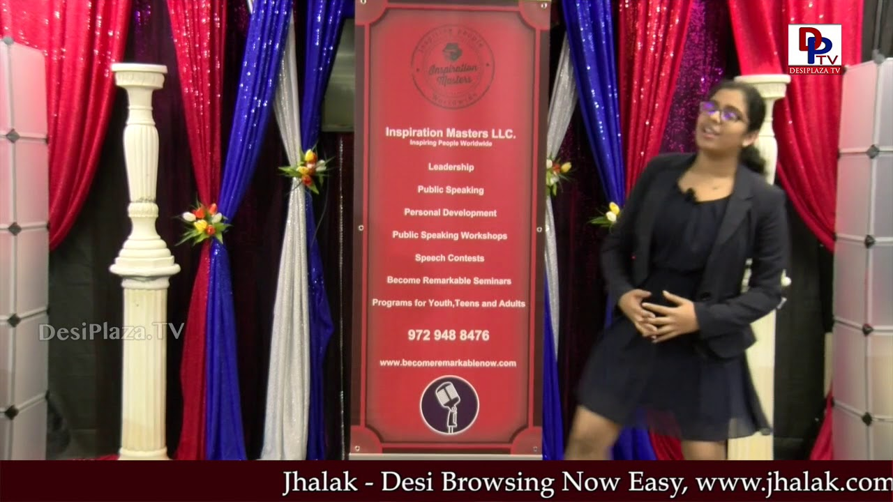 Girl speaks about Fairy tales at Talking Bee - Public Speaking Competitions 2018 || DesiplazaTV
