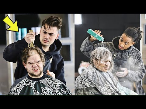 FAKE BARBER PRANK 2   GIVING STRANGERS BAD HAIRCUTS!! (MUST WATCH)
