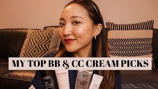 TOP 5 BB & ĊC CREAM PICKS | honest opinions on coverage, lasting power, SPF, price, overall finish