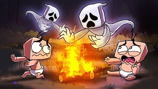 Minecraft | Baby Sitter - NO ADULT + GHOST STORIES! (Scary Camping Trip)