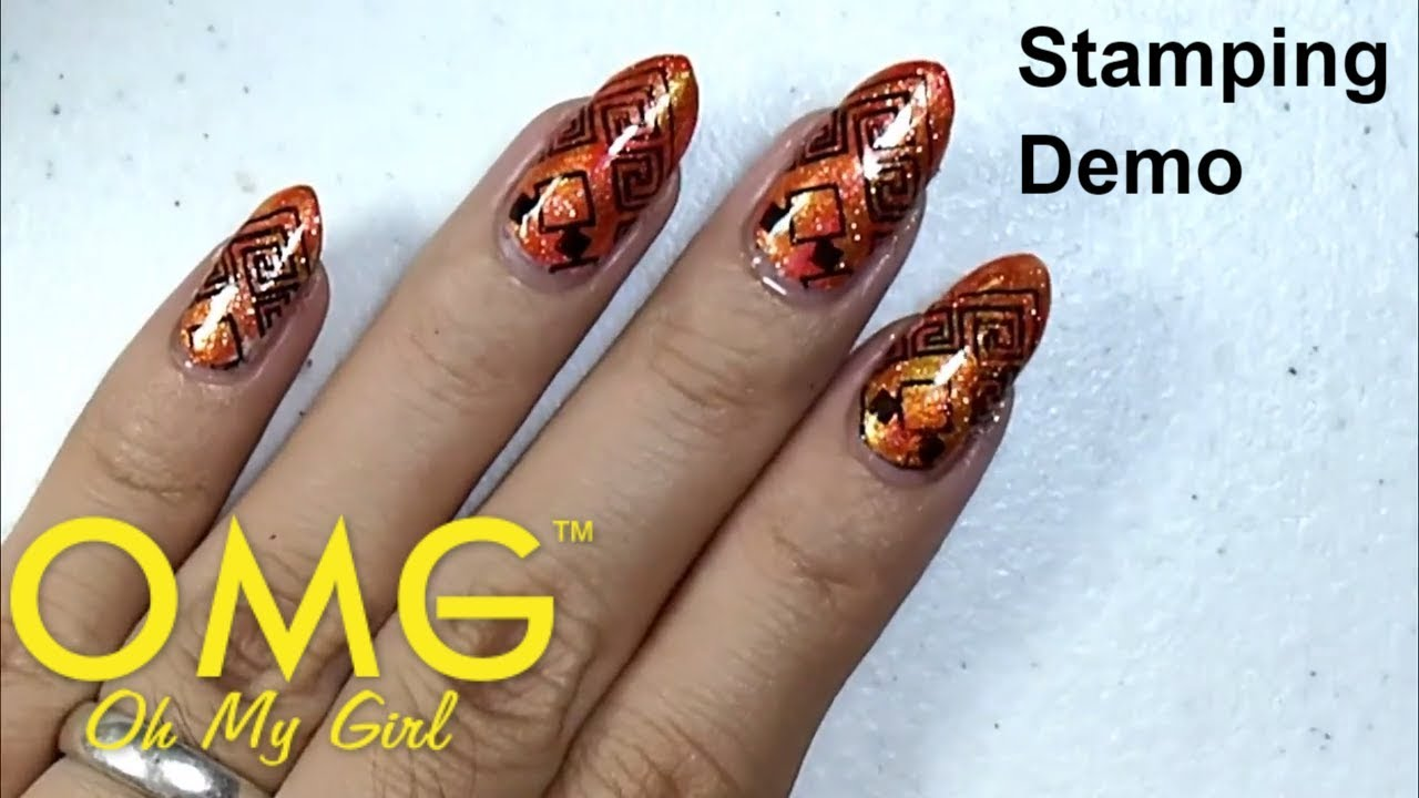 Omg Nail Polish Philippines Nail Art Stamping Kit And Plate Youtube