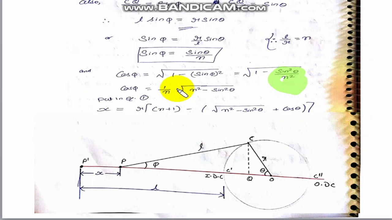 hight resolution of displacement velocity and acceleration of piston in reciprocating engine part 2 unit 1 dom