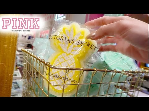 SQUISHIES AT VICTORIA'S SECRET PINK!? SHOPPING AT PINK VLOG