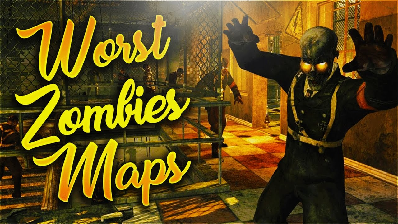 TOP 10 WORST CALL OF DUTY ZOMBIES MAPS