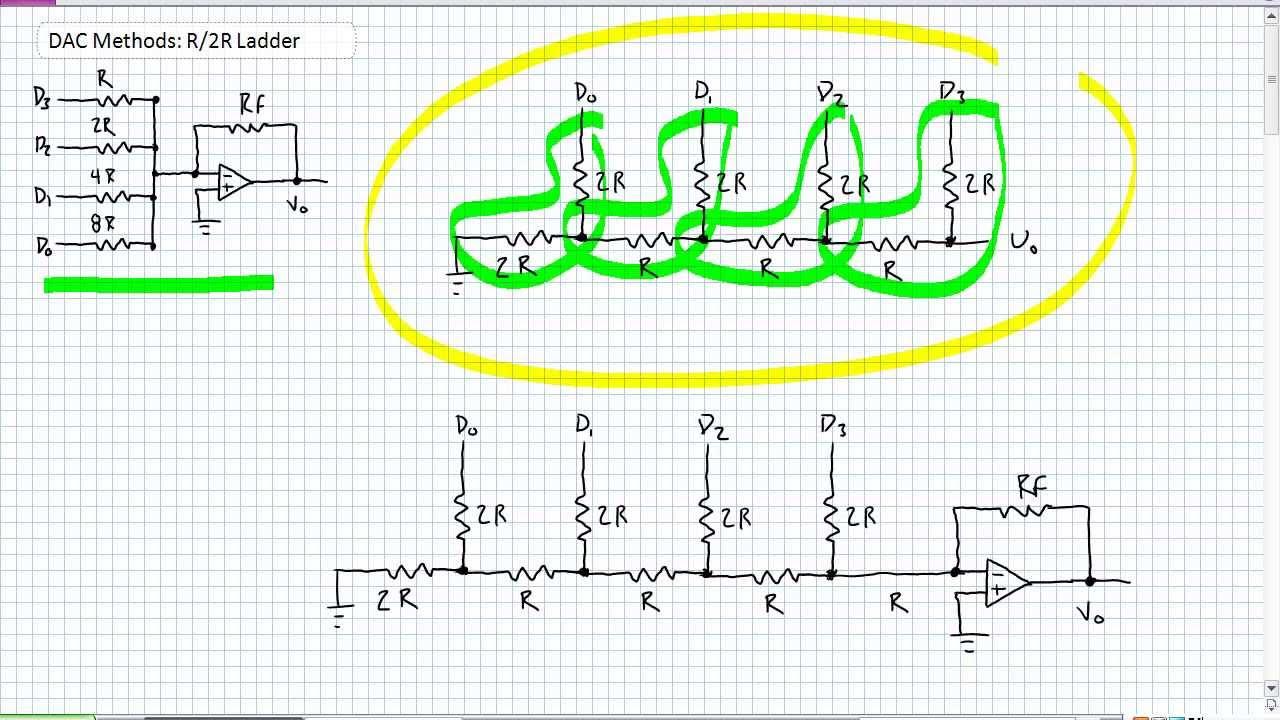 r 2r ladder circuit diagram [ 1280 x 720 Pixel ]
