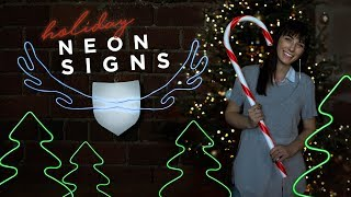 DIY NEON SIGNS for the HOLIDAYS
