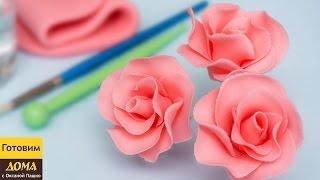 #Розы из мастики. Пошаговый урок по изготовлению розочек на #торт