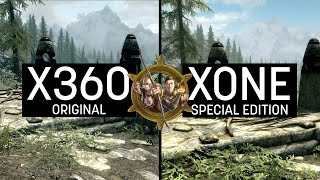 Skyrim Special Edition Graphics Comparison (XONE) VS Skyrim Vanilla (X360)