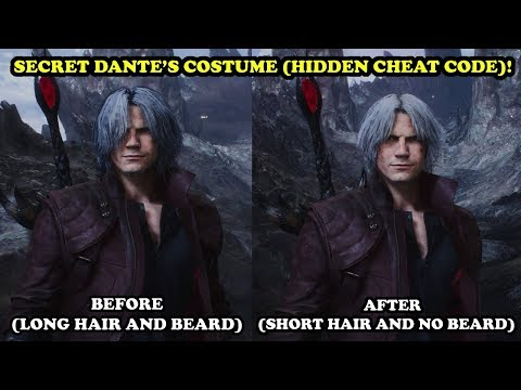 Devil May Cry 5 - Dante's SECRET COSTUME (Short Hair and No Beard) CHEAT CODE! UNLOCK TUTORIAL! thumbnail